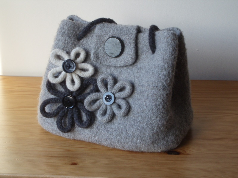 Felted Crochet Bag : felted bag Bags Pinterest
